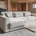 Loungebank Bayswater hoekbank in landelijke stijl